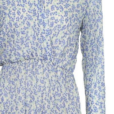 ruffle detail flower pattern wrap dress